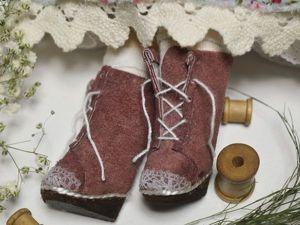 Шьем сапожки для текстильной куклы. Ярмарка Мастеров - ручная работа, handmade.