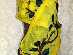 Валяние шарфа в технике нунофелтинг. Ярмарка Мастеров - ручная работа, handmade.