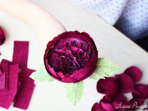 Роза Дэвида Остина из бумаги. Видео урок. Ярмарка Мастеров - ручная работа, handmade.