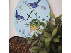 Создаем симпатичные часы с птицами. Ярмарка Мастеров - ручная работа, handmade.