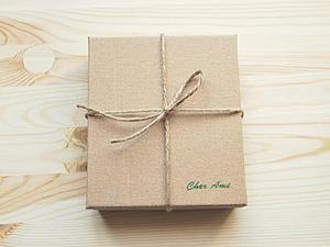 Делаем стильную коробочку из картона. Ярмарка Мастеров - ручная работа, handmade.