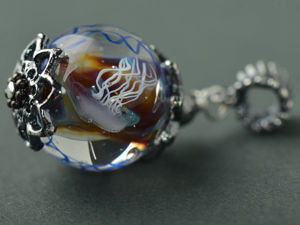 Морской кулон с медузами. Ярмарка Мастеров - ручная работа, handmade.