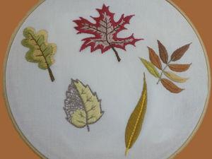 Вышиваем 5 осенних листьев. Ярмарка Мастеров - ручная работа, handmade.