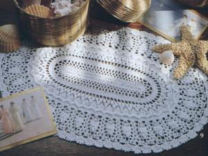 Вяжем овальную салфетку. Часть 1. Ярмарка Мастеров - ручная работа, handmade.