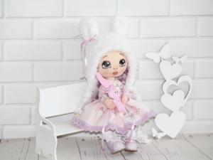 Аукцион на куклу Зайку от Машуши. Ярмарка Мастеров - ручная работа, handmade.