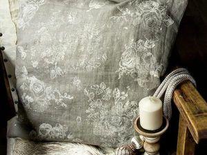 Мастер-класс по декорированию льняной подушки. Ярмарка Мастеров - ручная работа, handmade.