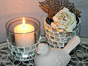 Decorating Glass Candle Holders with Mosaic. Livemaster - handmade
