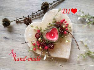 Создаем подсвечник ко Дню святого Валентина. Ярмарка Мастеров - ручная работа, handmade.