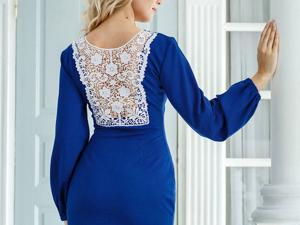 Аукцион на Элегантное платье из джерси! Старт 2500 руб.!. Ярмарка Мастеров - ручная работа, handmade.