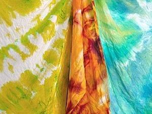 Узелковый батик (он же шибори, он же тай-дай). Ярмарка Мастеров - ручная работа, handmade.