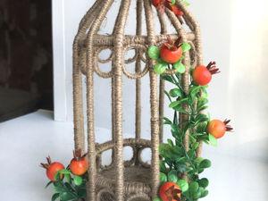 DIY Декоративная клетка своими руками /Как сделать декоративную клетку. Ярмарка Мастеров - ручная работа, handmade.