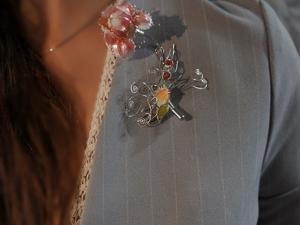 Новинка! Серебряная брошь к кольцу Precious flower. Ярмарка Мастеров - ручная работа, handmade.