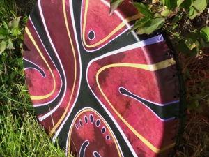Танец. Бубен шаманский кожаный. 40 см. Ярмарка Мастеров - ручная работа, handmade.