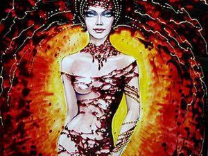 Созлаем картину Princess Of The Dawn в смешанной технике: витражная роспись и рисунок гуашью. Ярмарка Мастеров - ручная работа, handmade.