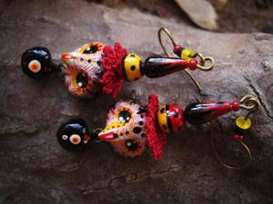 Акция на серьги с совушками — чародейками. Ярмарка Мастеров - ручная работа, handmade.