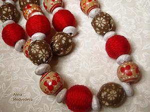 Как сделать бусины в русском стиле для колье «A la russe». Ярмарка Мастеров - ручная работа, handmade.