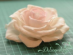 """Делаем распустившуюся розу """"Paris"""" из фоамирана. Ярмарка Мастеров - ручная работа, handmade."""
