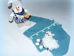 """Вяжем бесшовный жакетик """"Веселая овечка"""" для  малыша. Ярмарка Мастеров - ручная работа, handmade."""