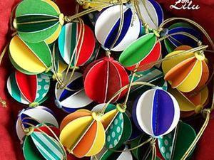 Делаем яркие шарики на ёлку за 5 минут. Ярмарка Мастеров - ручная работа, handmade.
