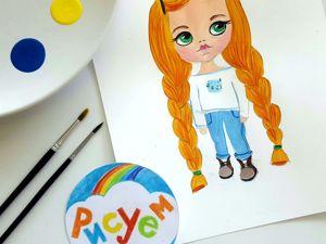 Как нарисовать куклу Блайз (Blythe). Ярмарка Мастеров - ручная работа, handmade.
