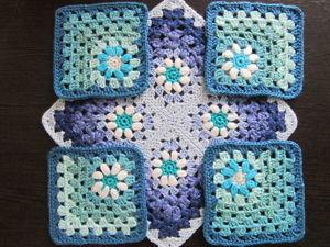 Добавила новый Бабушкин квадрат в часть №2 — в углу ромашка. Ярмарка Мастеров - ручная работа, handmade.