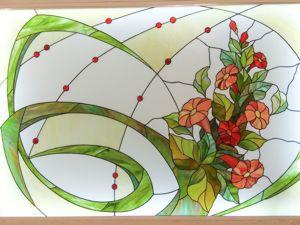 Создание витража  «Летний букет». Ярмарка Мастеров - ручная работа, handmade.