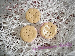 Серьги - печеньки из полимерной глины. Ярмарка Мастеров - ручная работа, handmade.