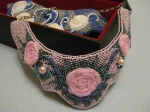 Вышиваем колье «Розовое утро». Ярмарка Мастеров - ручная работа, handmade.