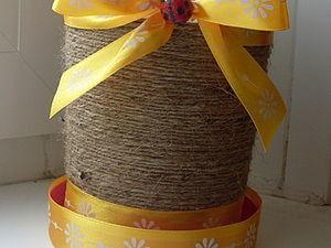 Цветочный горшок из пластиковой упаковки. Ярмарка Мастеров - ручная работа, handmade.