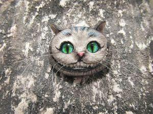 Брошь: Чеширский кот. Ярмарка Мастеров - ручная работа, handmade.