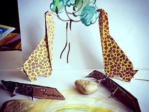 """""""Оригами. Делаем фигурки животных: сафари"""". Часть 2. Ярмарка Мастеров - ручная работа, handmade."""