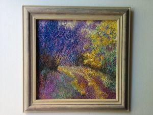 Вышивка картины  «Синий лес». Ярмарка Мастеров - ручная работа, handmade.