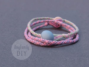 How to Weave Round Rope and Make Bracelet from It. Livemaster - handmade
