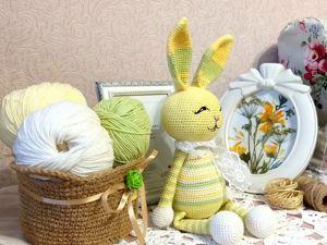 Весенний Зайчик крючком. Описание вязания. Ярмарка Мастеров - ручная работа, handmade.