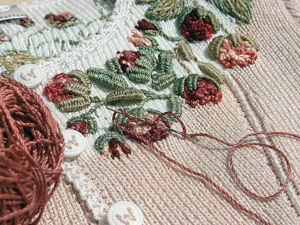 Femininity Embodied in Embroidery on Knitwear by Eva Dietrich. Livemaster - handmade