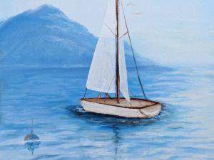 Новая картина!!! Морской пейзаж!. Ярмарка Мастеров - ручная работа, handmade.