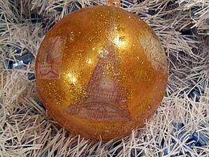 """Новогодняя игрушка на елку """"Париж"""". Ярмарка Мастеров - ручная работа, handmade."""