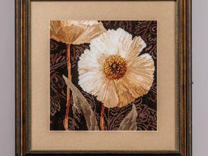 Триптих  «Белые цветы». Ярмарка Мастеров - ручная работа, handmade.