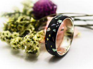 Обзор на кольцо  «Синтетический опал». Ярмарка Мастеров - ручная работа, handmade.