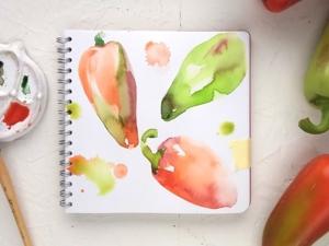 5-минутная зарисовка перцев. Ярмарка Мастеров - ручная работа, handmade.
