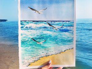 Нарисовала Море на Море. Ярмарка Мастеров - ручная работа, handmade.