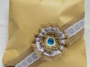 Делаем цветок для упаковки подарка. Вариант 4: консервативный. Ярмарка Мастеров - ручная работа, handmade.