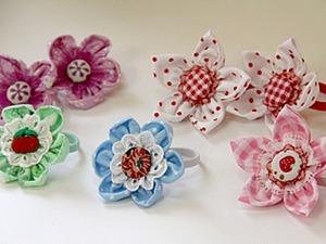 Видеоурок: шьем из ткани цветочные резиночки для волос. Ярмарка Мастеров - ручная работа, handmade.