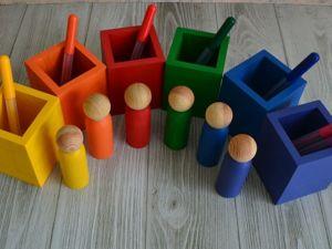 Деревянные ,красочные ящики для сортировки. Ярмарка Мастеров - ручная работа, handmade.