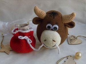 Вот и Бычок в моем исполнении готов к Новому году!. Ярмарка Мастеров - ручная работа, handmade.