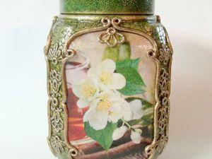 Декорированная баночка для чая. Ярмарка Мастеров - ручная работа, handmade.