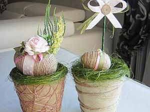 How to Make an Easter Decoration: Nests with Eggs and Birds. Livemaster - handmade