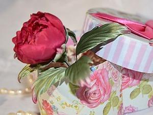 Делаем символ любви и богатства — пион цвета марсала из шелка. Ярмарка Мастеров - ручная работа, handmade.