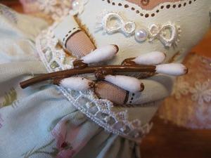 Делаем из ватных палочек веточку вербы для куклы. Ярмарка Мастеров - ручная работа, handmade.