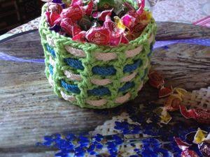 Вяжем своими руками уютную интерьерную корзину «Плетенка». Ярмарка Мастеров - ручная работа, handmade.
